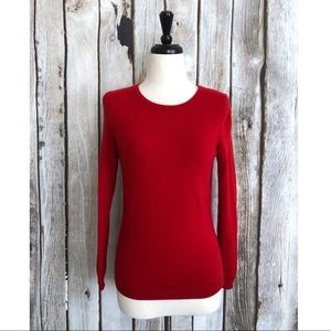 Talbots Petites Pure Cashmere Red Pullover Sweater